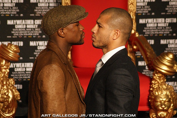 Mayweather vs Cotto Face Off