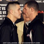 Rios vs Abril L.A face off