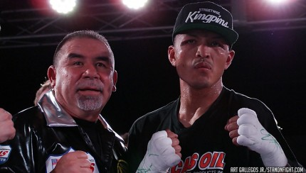 Aaron Martinez after defeating Albert Herrera